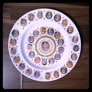 Vintage president of the United States plate